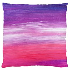 Abstract In Pink & Purple Large Cushion Case (Two Sided)