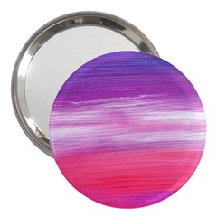 Abstract In Pink & Purple 3  Handbag Mirror