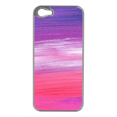 Abstract In Pink & Purple Apple iPhone 5 Case (Silver)