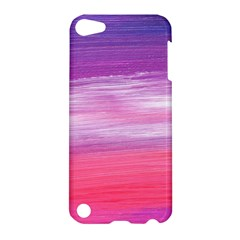 Abstract In Pink & Purple Apple Ipod Touch 5 Hardshell Case