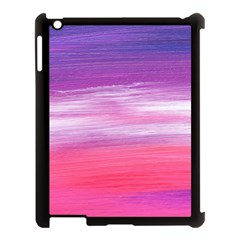 Abstract In Pink & Purple Apple Ipad 3/4 Case (black)