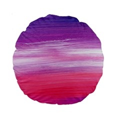 Abstract In Pink & Purple 15  Premium Round Cushion