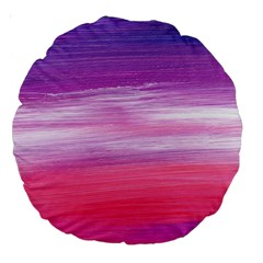 Abstract In Pink & Purple 18  Premium Round Cushion