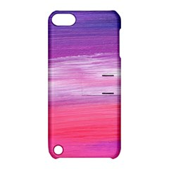 Abstract In Pink & Purple Apple Ipod Touch 5 Hardshell Case With Stand