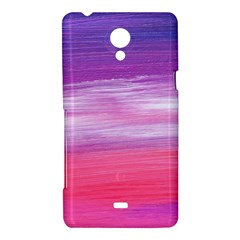Abstract In Pink & Purple Sony Xperia T Hardshell Case