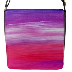 Abstract In Pink & Purple Flap Closure Messenger Bag (small)
