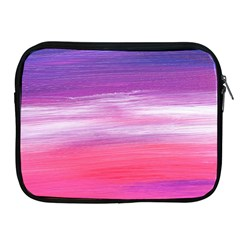 Abstract In Pink & Purple Apple Ipad Zippered Sleeve
