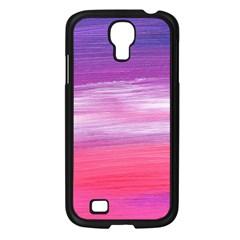 Abstract In Pink & Purple Samsung Galaxy S4 I9500/ I9505 Case (Black)