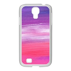 Abstract In Pink & Purple Samsung Galaxy S4 I9500/ I9505 Case (white)