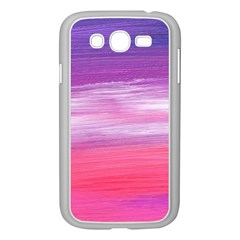 Abstract In Pink & Purple Samsung Galaxy Grand DUOS I9082 Case (White)