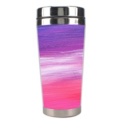 Abstract In Pink & Purple Stainless Steel Travel Tumbler