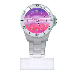 Abstract In Pink & Purple Nurses Watch