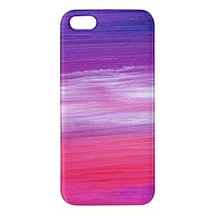 Abstract In Pink & Purple iPhone 5S Premium Hardshell Case