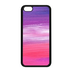 Abstract In Pink & Purple Apple iPhone 5C Seamless Case (Black)