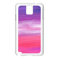 Abstract In Pink & Purple Samsung Galaxy Note 3 N9005 Case (White)
