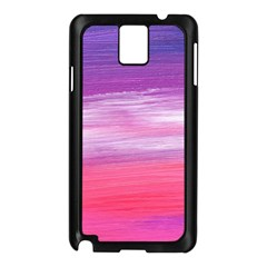 Abstract In Pink & Purple Samsung Galaxy Note 3 N9005 Case (Black)