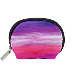 Abstract In Pink & Purple Accessories Pouch (Small)