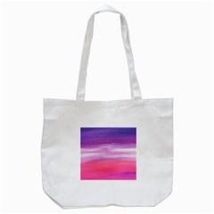 Abstract In Pink & Purple Tote Bag (White)