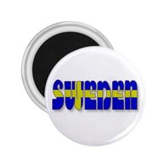 Flag Spells Sweden 2.25  Button Magnet