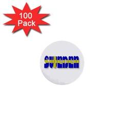 Flag Spells Sweden 1  Mini Button (100 pack)
