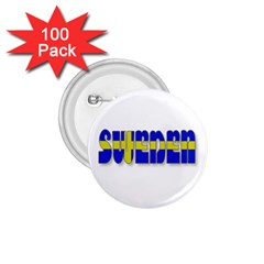 Flag Spells Sweden 1.75  Button (100 pack)