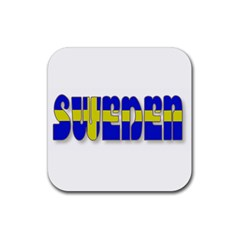 Flag Spells Sweden Drink Coaster (Square)