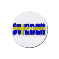 Flag Spells Sweden Drink Coaster (Round)