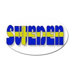 Flag Spells Sweden Magnet (Oval)
