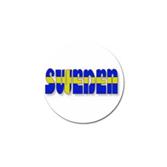 Flag Spells Sweden Golf Ball Marker 4 Pack