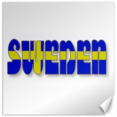 Flag Spells Sweden Canvas 12  X 12  (unframed)