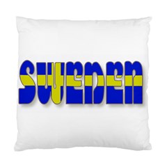 Flag Spells Sweden Cushion Case (two Sided)