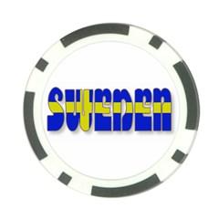 Flag Spells Sweden Poker Chip (10 Pack)
