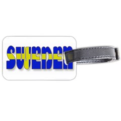 Flag Spells Sweden Luggage Tag (two Sides)