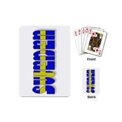 Flag Spells Sweden Playing Cards (Mini)
