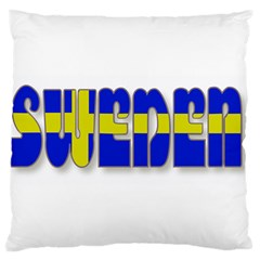 Flag Spells Sweden Large Cushion Case (Two Sided)