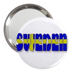 Flag Spells Sweden 3  Handbag Mirror