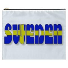 Flag Spells Sweden Cosmetic Bag (xxxl)