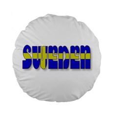 Flag Spells Sweden 15  Premium Round Cushion