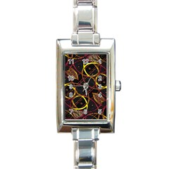 Luxury Futuristic Ornament Rectangular Italian Charm Watch