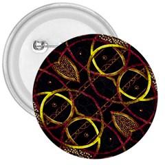 Luxury Futuristic Ornament 3  Button