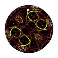 Luxury Futuristic Ornament Round Ornament