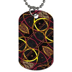 Luxury Futuristic Ornament Dog Tag (One Sided)