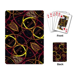 Luxury Futuristic Ornament Playing Cards Single Design