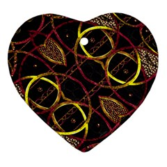 Luxury Futuristic Ornament Heart Ornament (Two Sides)