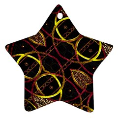 Luxury Futuristic Ornament Star Ornament (Two Sides)