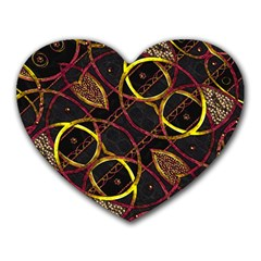 Luxury Futuristic Ornament Mouse Pad (Heart)