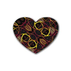 Luxury Futuristic Ornament Drink Coasters (heart)