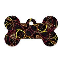 Luxury Futuristic Ornament Dog Tag Bone (One Sided)