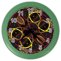 Luxury Futuristic Ornament Wall Clock (Color)
