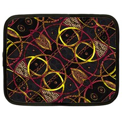 Luxury Futuristic Ornament Netbook Sleeve (Large)